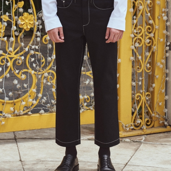 Garment Worker Ordinary Jeans / Tapered (Black)