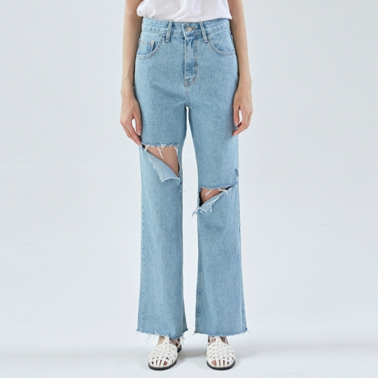 HIGH WAIST DESTROYED WIDE JEAN_DENIM