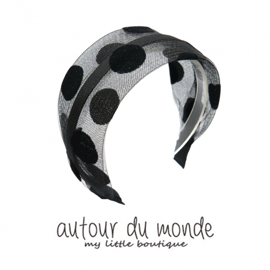 dot hairband (black)