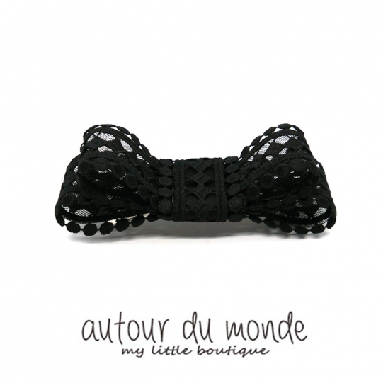 square ribbon hairpin (black)