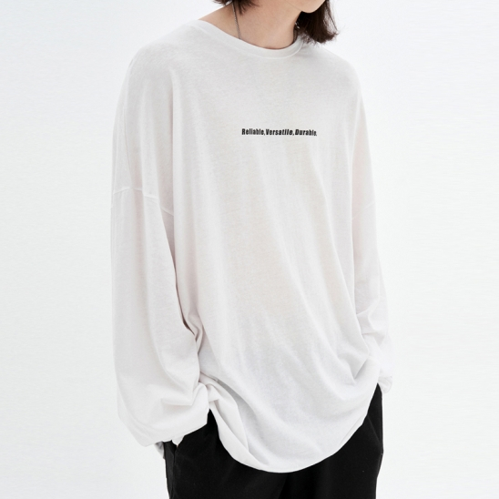 OVER-FIT LIGHT LONG SLEEVE T-SHIRT_IVORY