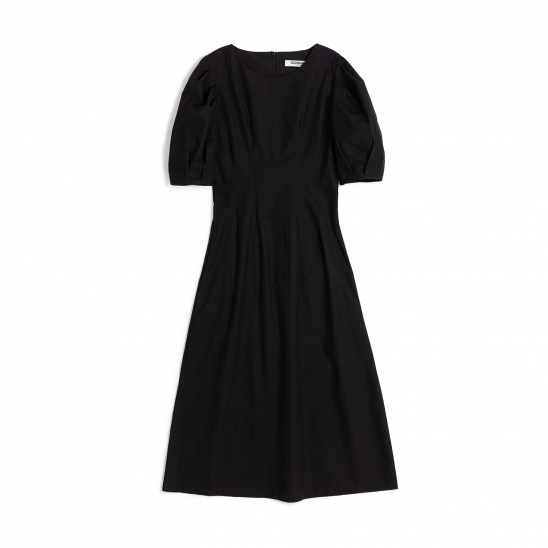 [Featured Item]Puff Short Sleeve Dart One-piece Black