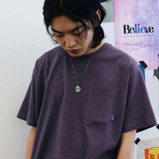 BB CIRCLE POCKET TEE - PURPLE