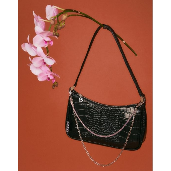 BADEE PYTHON HOBO BAG [BLACK]