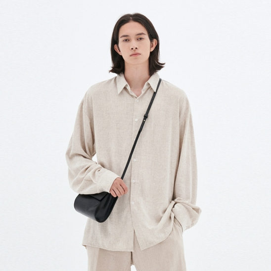 LOOSE-FIT LINEN SHIRTS_OATMEAL