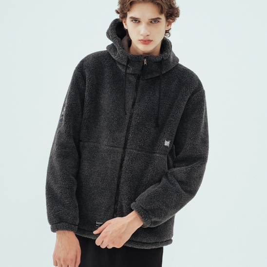 BB BOA FLEECE JACKET - CHARCOLE