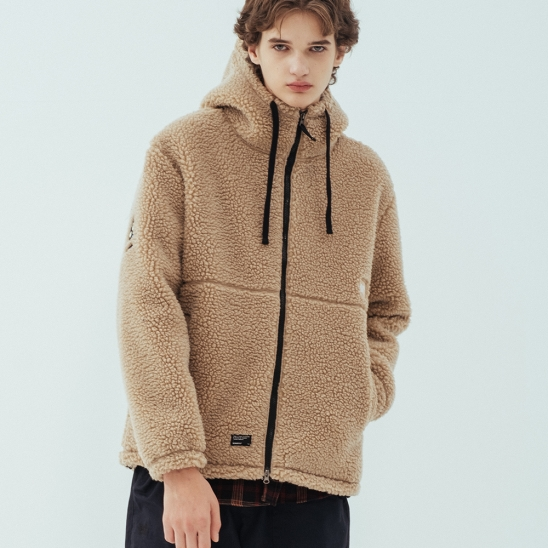 BB BOA FLEECE JACKET - BEIGE