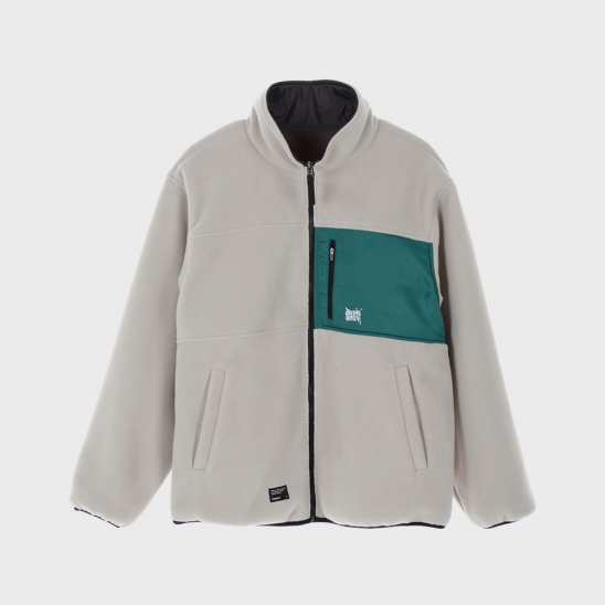 TAG REVERSIBLE FLEECE JACKET - BEIGE