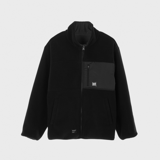 TAG REVERSIBLE FLEECE JACKET - BLACK