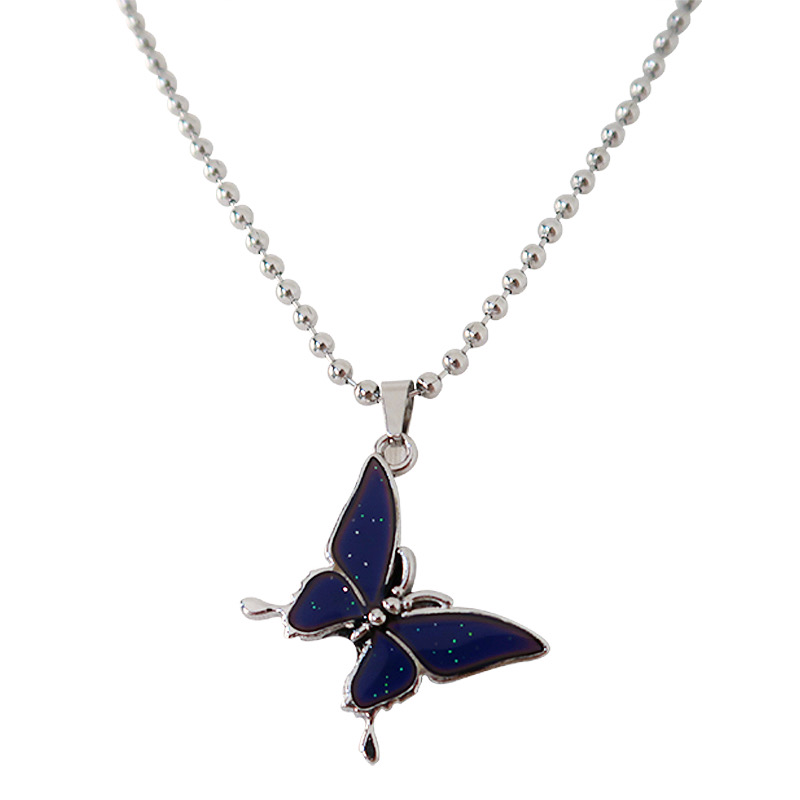 TEMPERATURE BUTTERFLY NECKLACE
