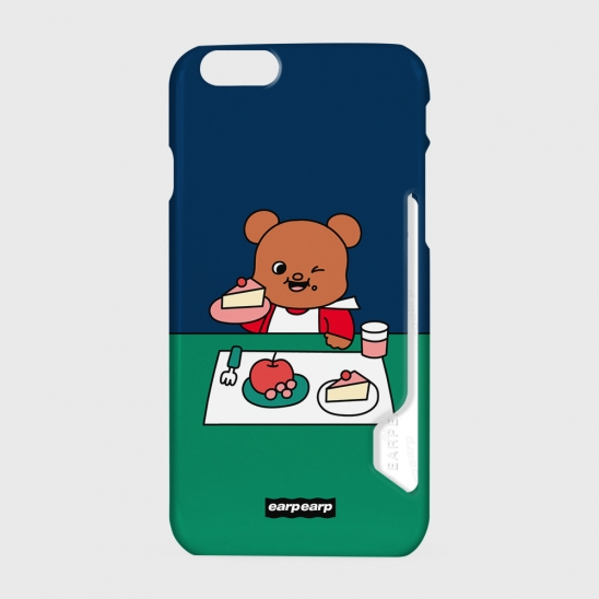 Picnic bear-navy/green(카드수납케이스)