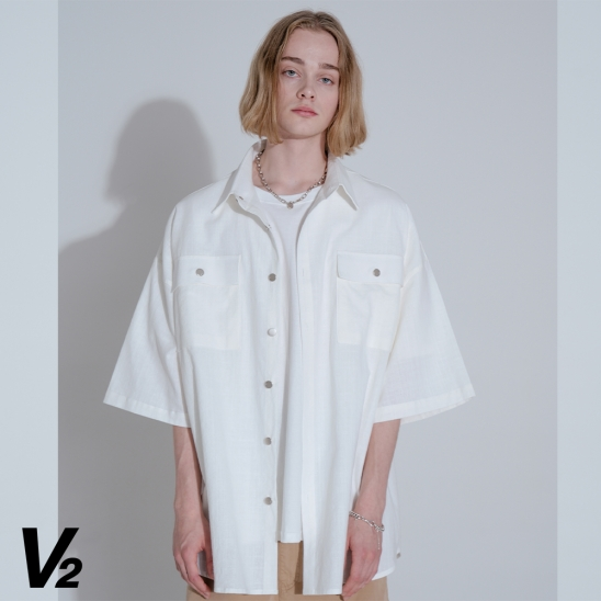 LINEN HALF SHIRT JACKET_WHITE