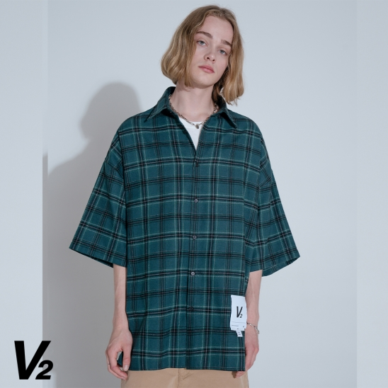 V2 SUMMER VINTAGE HALF SHIRT_GREEN
