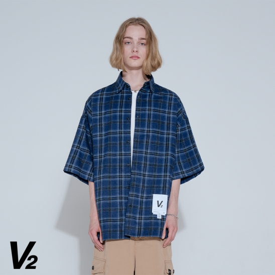 V2 SUMMER VINTAGE HALF SHIRT_NAVY