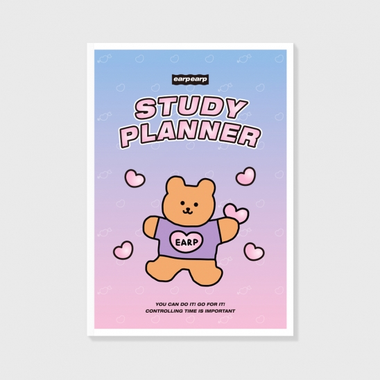 Bear heart-purple/pink(study planner)