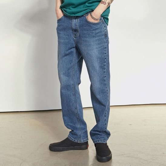 [COUCOU] ASHED BLUE WIDE JEAN_DENIM