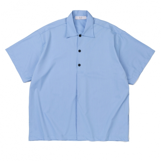 CB HALF HIDE BIG SHIRT (BLUE)