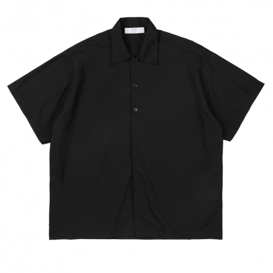 CB HALF HIDE BIG SHIRT (BLACK)