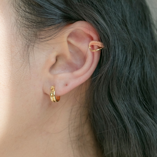 Mini curve ring and knit earcuff Set