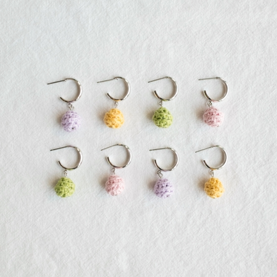 Pastel drop candy ball earring