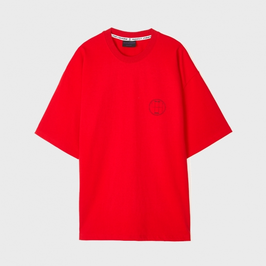 OVERSIZE R2 LOGO T-SHIRTS [RED]