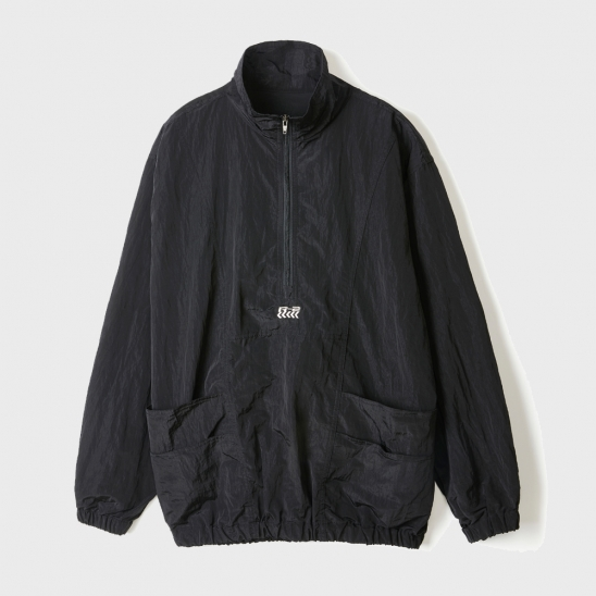 METALIC POCKET ANORAK [BLACK]