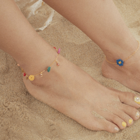 Rainbow gold(925s) chain anklet