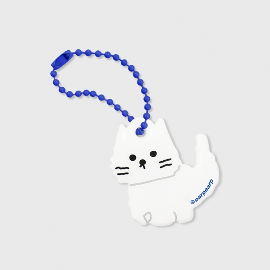 Awesome cat-white(PVC키링)