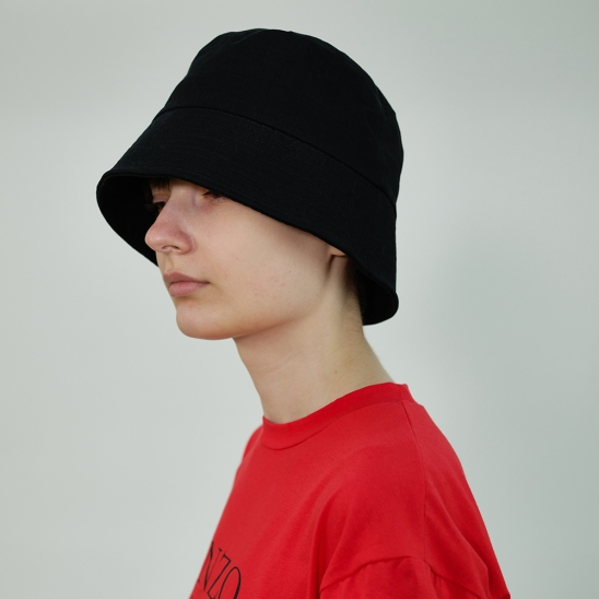 Basic Cotton Bucket Hat (Black)