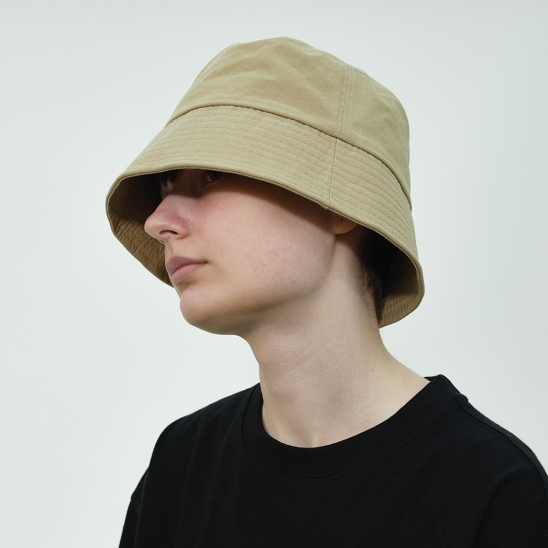 Basic Cotton Bucket Hat (Beige)