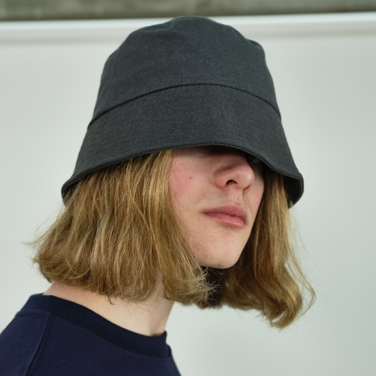 Basic Cotton Bucket Hat (Charcoal)