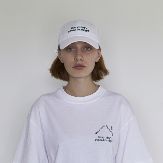 Quarantine Logo Ball cap (White)