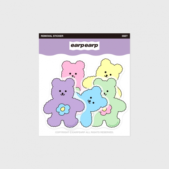 Blossom bear friends-5color(커팅 스티커)