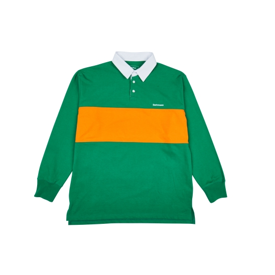 COLOR BLOCKING RUGBY SHIRT (GREEN)