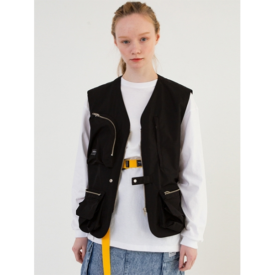 [어나더에이] Utility Pocket Vest [Black]