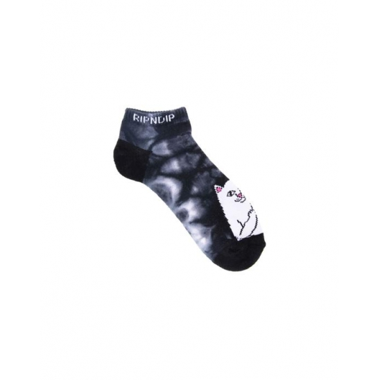 Lord Nerm Low Socks  - Black Tie Dye