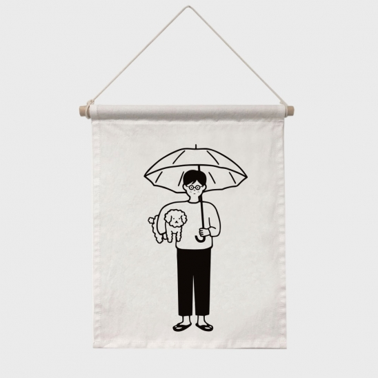 poster (a man with an umbrella)