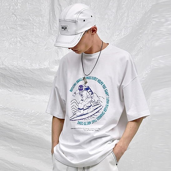 SURFING ASTRONAUT T-SHIRT _ WHITE