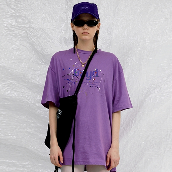 LOGO PAINTING T-SHIRT _ PURPLE