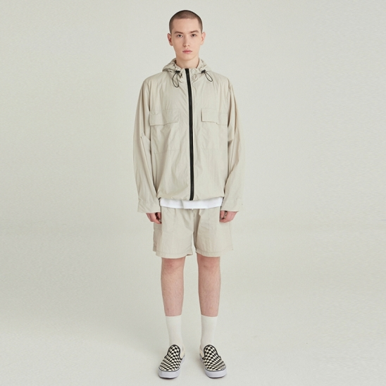 [COUCOU] LIGHT WEIGHT WINDBREAKER SET UP_SAND