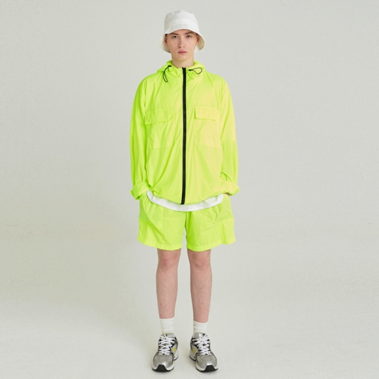 [COUCOU] LIGHT WEIGHT WINDBREAKER SET UP_LIME