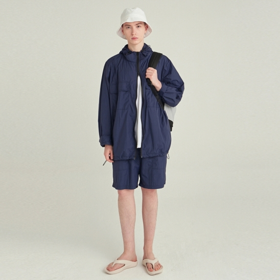 [COUCOU] LIGHT WEIGHT WINDBREAKER SET UP_NAVY