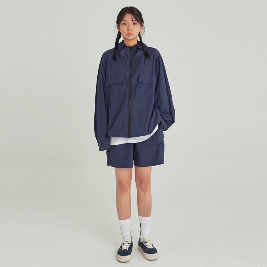[COUCOU] W LIGHT WEIGHT WINDBREAKER SET UP_NAVY