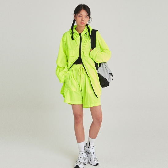 [COUCOU] W LIGHT WEIGHT WINDBREAKER SET UP_LIME