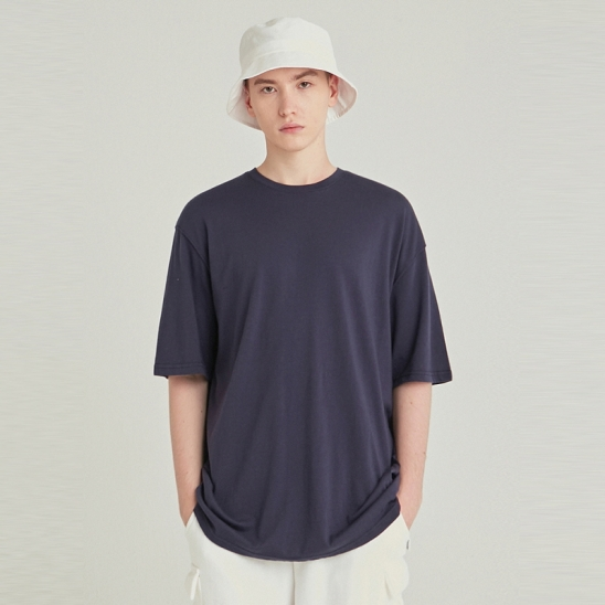 [COUCOU] MULTI OVERSIZED HALF TEE_NAVY