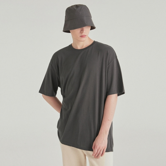 [COUCOU] MULTI OVERSIZED HALF TEE_CHARCOAL