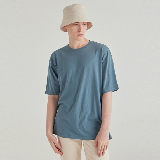 [COUCOU] MULTI OVERSIZED HALF TEE_SKY BLUE