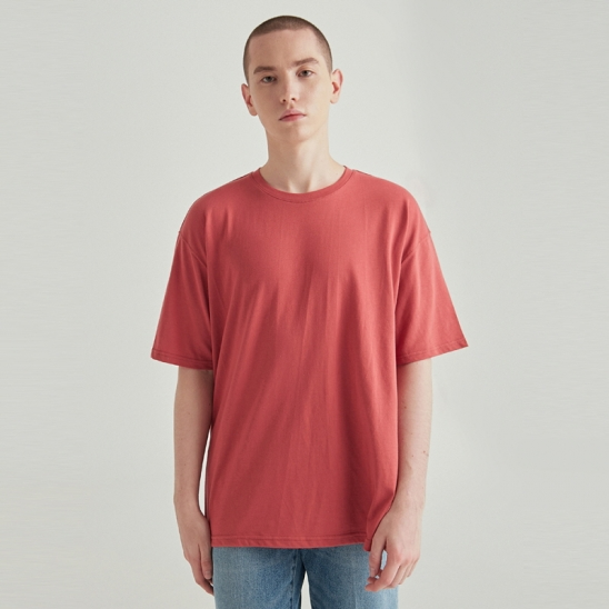 [COUCOU] MULTI OVERSIZED HALF TEE_BRICK