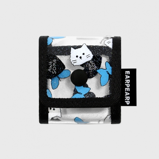 Awesome cat-black(PVC Air pods)