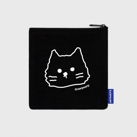 Face awesome cat-black(파우치)